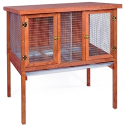 "HD Double Rabbit Hutch, 47.75"" x 34.5"" x 48"""