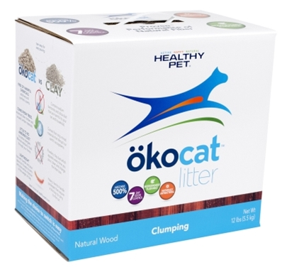 Healthy Pet Okocat Natural Wood Clumping Cat Litter, 12 lbs