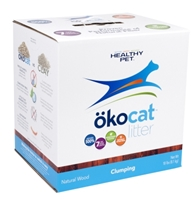 Healthy Pet Okocat Natural Wood Clumping Cat Litter, 18 lbs