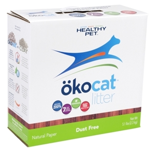 Healthy Pet Okocat Natural Wood Dust Free Clumping Cat Litter, 5.1 lbs