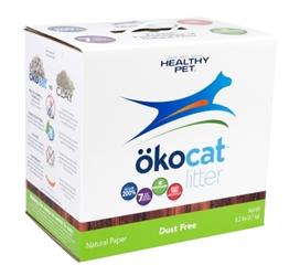 Healthy Pet Okocat Natural Wood Dust Free Clumping Cat Litter, 8.2 lbs