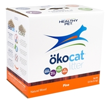 Healthy Pet Okocat Natural Wood Pine Cat Litter, 12.4 lbs