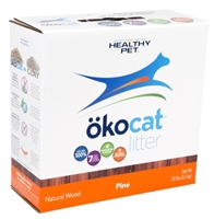 Healthy Pet Okocat Natural Wood Pine Cat Litter, 7.5 lbs