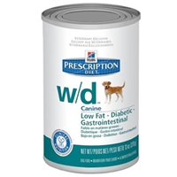 Hills Prescription Diet w/d Canine Low-Fat Glucose Management Gastrointestinal Canned Food, 12 x 13 oz