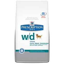 Hills Prescription Diet w/d Canine Low-Fat Glucose Management Gastrointestinal Dry Food, 17.6 lbs