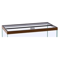 "Hinged Glass Canopy, 48"" x 18"""