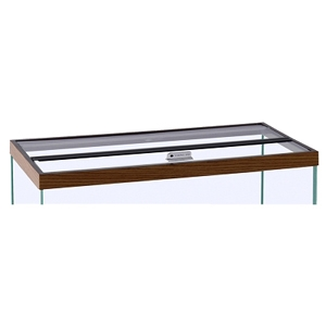 "Hinged Glass Canopy, 60"" x 18"""