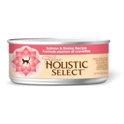 Holistic Select Cat Food Salmon & Shrimp, 5.5 oz - 24 Pack