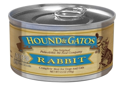 Hound & Gatos American Rabbit Recipe for Cats, 5.5 oz - 24 Pack