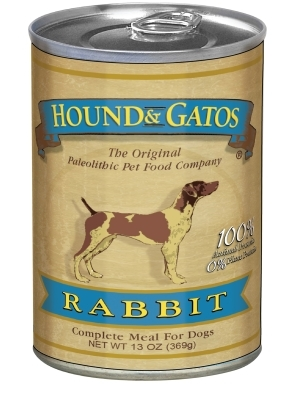 Hound & Gatos American Rabbit Recipe for Dogs, 13 oz - 12 Pack
