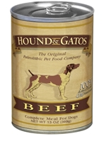 Hound & Gatos Beef Recipe for Dogs, 13 oz - 12 Pack