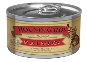 Hound & Gatos Pacific Northwest Salmon Recipe for Cats, 5.5 oz - 24 Pack