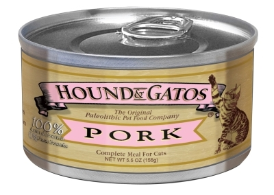 Hound & Gatos Pork Recipe for Cats, 5.5 oz - 24 Pack