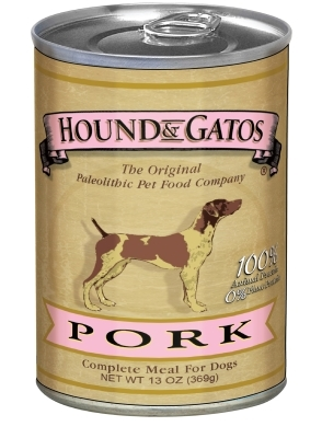 Hound & Gatos Pork Recipe for Dogs, 13 oz - 12 Pack