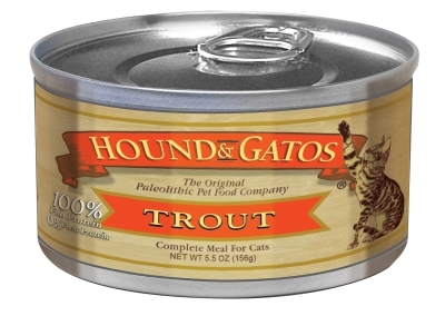 Hound & Gatos Trout Recipe for Cats, 5.5 oz - 24 Pack