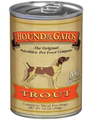 Hound & Gatos Trout Recipe for Dogs, 13 oz - 12 Pack