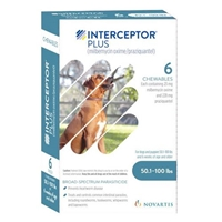 Interceptor Plus for Dogs 50.1-100 lbs Blue, 6 Pack
