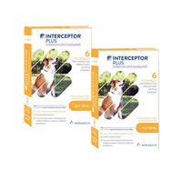 Interceptor Plus for Dogs 25.1-50 lbs Yellow, 12 Pack