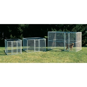 K9 Chain-Link Kennel, 6' x 4' x 4'