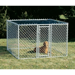K9 Chain-Link Kennel, 6' x 6' x 4'