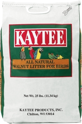 Kaytee All Natural Walnut Litter for Birds, 25 lbs