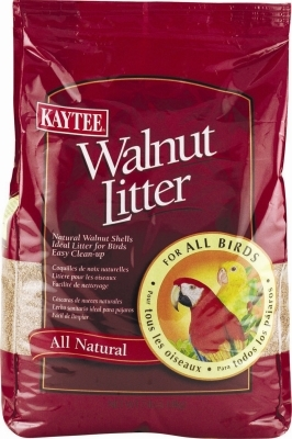 Kaytee All Natural Walnut Litter for Birds, 7 lbs