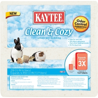 kaytee clean & cozy bedding, 250 cu. in | vetdepot