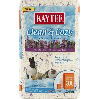 Kaytee Clean & Cozy Bedding, Lavender, 500 cu. in