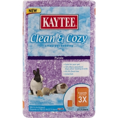 kaytee clean & cozy bedding, purple, 500 cu. in | vetdepot