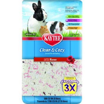 Kaytee Clean & Cozy Bedding, Rose, 500 cu. in