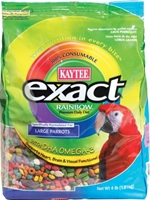 Kaytee Exact Rainbow, Large Parrot Food, 4 lbs