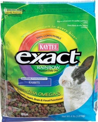 Kaytee Exact Rainbow, Rabbit Pellets, 4 lbs