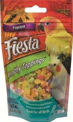 Kaytee Fiesta Healthy Toppings for Birds, Papaya, 10 oz