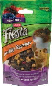 Kaytee Fiesta Healthy Toppings for Small Animals, Mixed Fruit, 1.6 oz