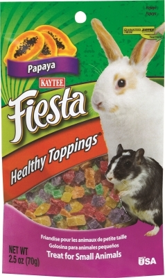 Kaytee Fiesta Healthy Toppings for Small Animals, Papaya, 1.6 oz