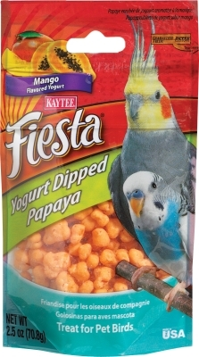 Kaytee Fiesta Yogurt Dipped Papaya, Mango Yogurt, 2.5 oz