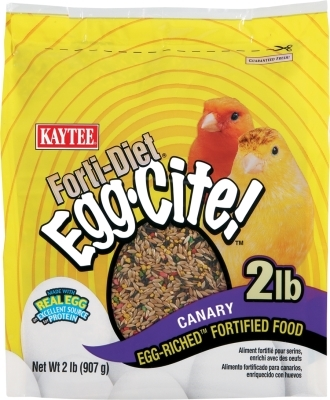 Kaytee Forti-Diet Egg-Cite! Canary Food, 2 lbs