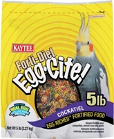 Kaytee Forti-Diet Egg-Cite! Cockatiel Food, 5 lbs