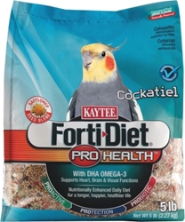 Kaytee Forti-Diet Pro Health Cockatiel Food with Safflower, 5 lbs