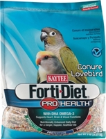 Kaytee Forti-Diet Pro Health Conure & Lovebird Food, 5 lbs