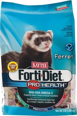 Kaytee Forti-Diet Pro Health Ferret Food, 3 lbs