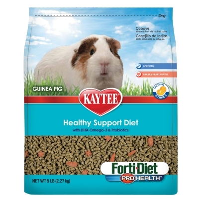 Kaytee Forti-Diet Pro Health Healthy Support Diet, Guinea Pig, 3 lbs