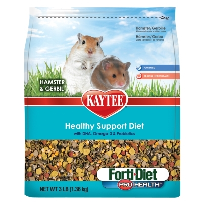 Kaytee Forti-Diet Pro Health Healthy Support Diet, Hamster & Gerbil, 3 lbs