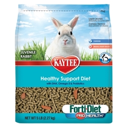 Kaytee Forti-Diet Pro Health Healthy Support Diet, Juvenile Rabbit, 5 lbs