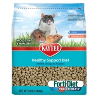 Kaytee Forti-Diet Pro Health Healthy Support Diet, Mouse Rat & Hamster, 3 lbs