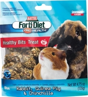 Kaytee Forti-Diet Pro Health Rabbit Guinea Pig & Chinchilla Healthy Bits Treat, 4.5 oz