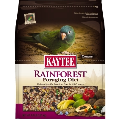 Kaytee Rainforest Foraging Diet, Conure, 4 lbs
