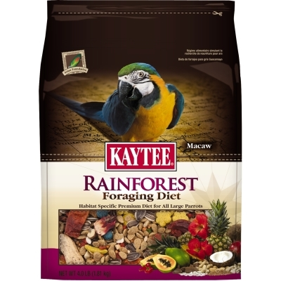 Kaytee Rainforest Foraging Diet, Macaw, 4 lbs