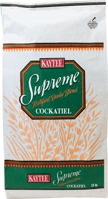 Kaytee Supreme Cockatiel Fortified Daily Blend, 25 lbs