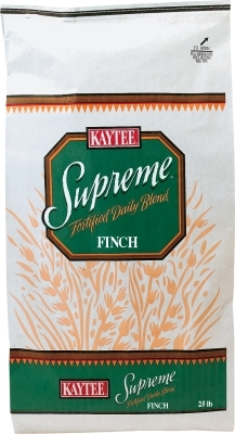 Kaytee Supreme Finch Fortified Daily Blend, 25 lbs